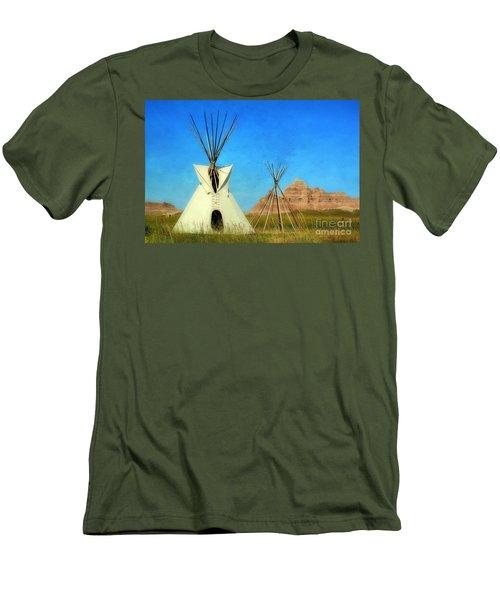 Tepee In Badlands Men's T-Shirt (Athletic Fit)