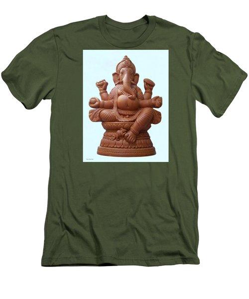Terra - Cotta Ganapati Men's T-Shirt (Athletic Fit)