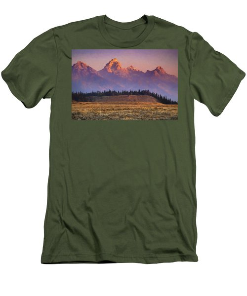 Teton Sunrise Men's T-Shirt (Athletic Fit)