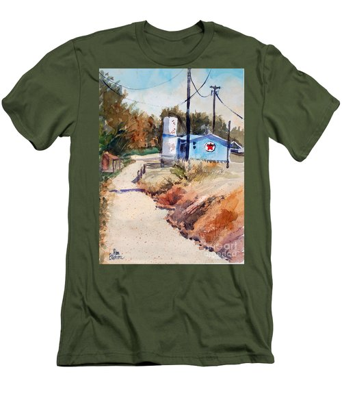 Men's T-Shirt (Slim Fit) featuring the painting Texaco by Ron Stephens