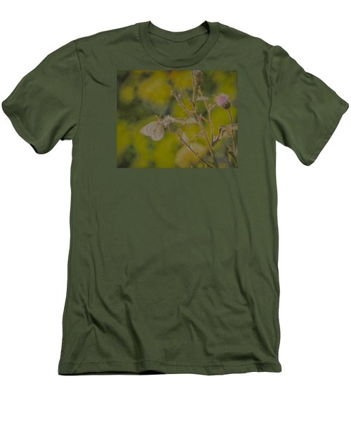 Textured Butterfly 1   Men's T-Shirt (Slim Fit) by Leif Sohlman