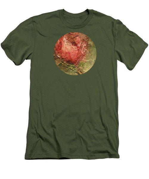 Textured Rose Art Men's T-Shirt (Athletic Fit)