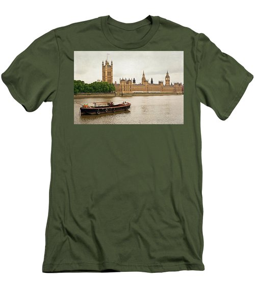 Thames Men's T-Shirt (Slim Fit) by Keith Armstrong