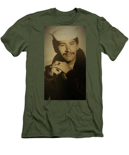 Men's T-Shirt (Slim Fit) featuring the photograph Thank You For Your Service by Paul SEQUENCE Ferguson sequence dot net
