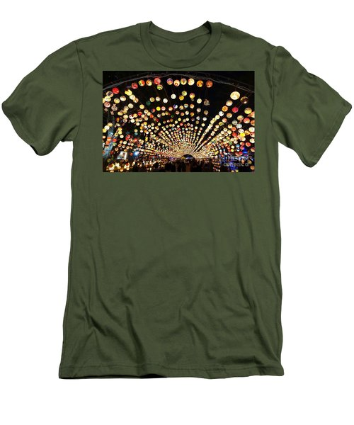 Men's T-Shirt (Slim Fit) featuring the photograph The 2017 Lantern Festival In Taiwan by Yali Shi