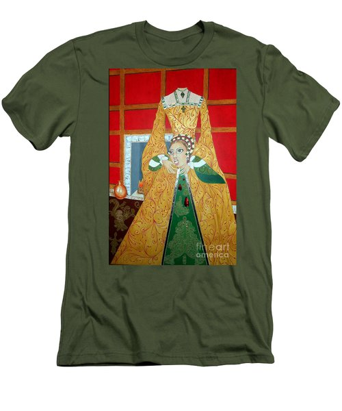 The 5th, Beheaded -- Tudor Portrait, Catherine Howard, #3 In Famous Flirts Series Men's T-Shirt (Athletic Fit)