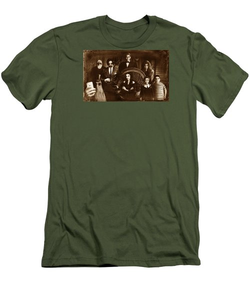 The Addams Family Sepia Version Men's T-Shirt (Slim Fit)