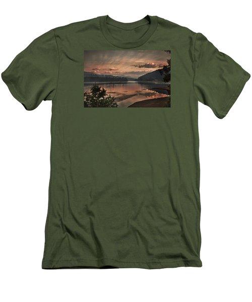 The Adventure Begins Men's T-Shirt (Slim Fit) by Loni Collins