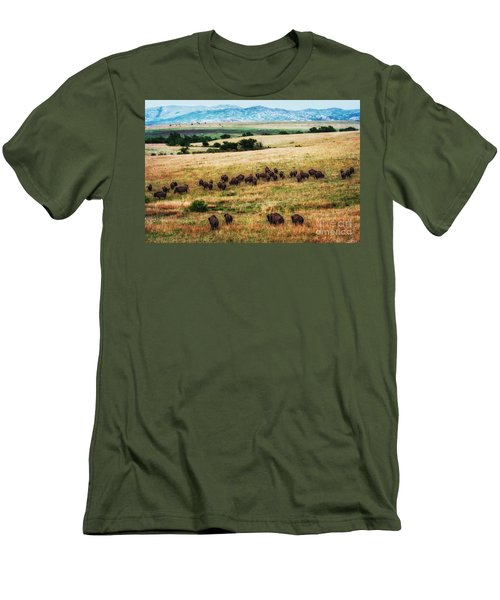 The American Bison Herd Men's T-Shirt (Athletic Fit)
