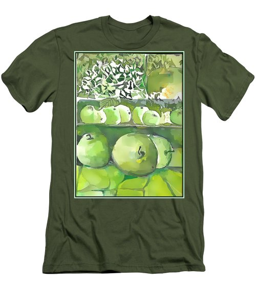 Men's T-Shirt (Slim Fit) featuring the painting The Apple Closet by Mindy Newman