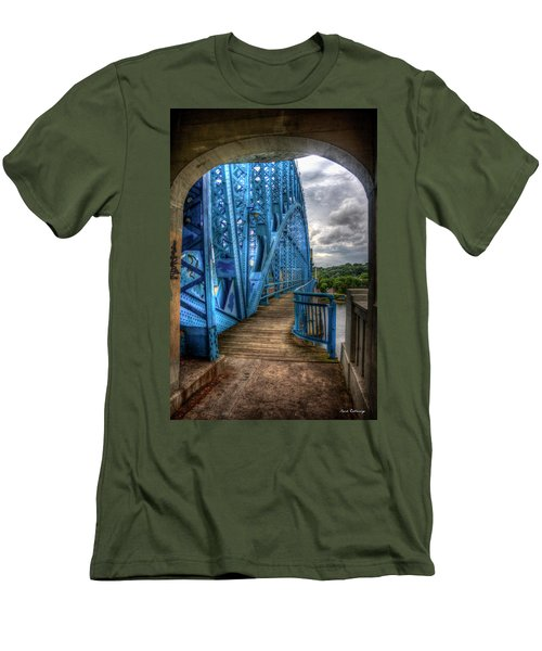 Men's T-Shirt (Athletic Fit) featuring the photograph The Archway Market Street Bridge John Ross Bridge Art by Reid Callaway