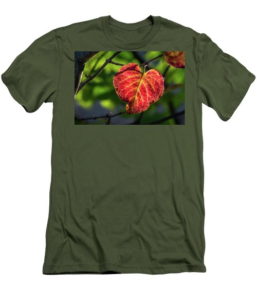 Men's T-Shirt (Athletic Fit) featuring the photograph The Autumn Heart by Bill Pevlor