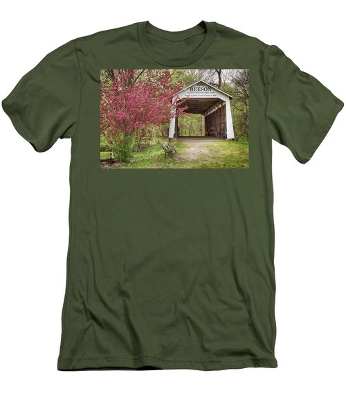 The Beeson Covered Bridge Men's T-Shirt (Slim Fit) by Harold Rau