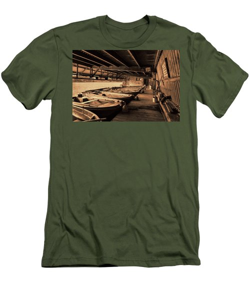 Men's T-Shirt (Slim Fit) featuring the photograph The Boat House  by Scott Carruthers