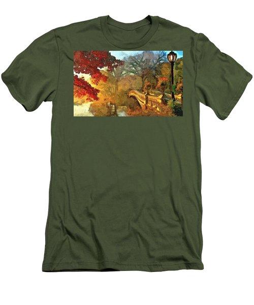 The Bow Bridge Nyc  Men's T-Shirt (Slim Fit)