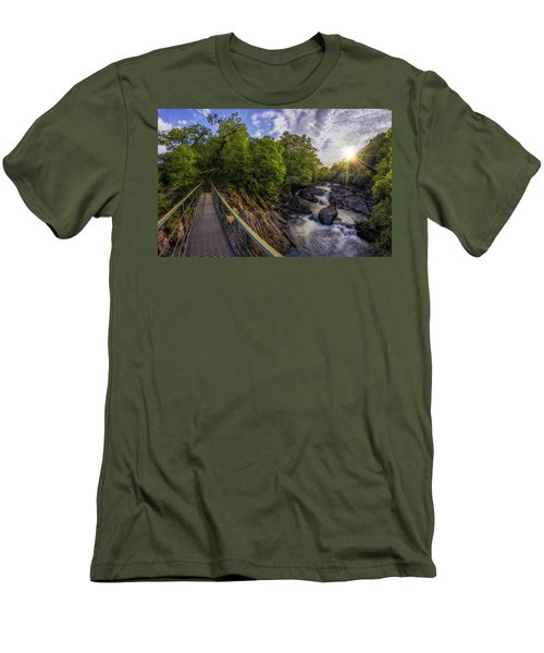 The Bridge To Summer Men's T-Shirt (Slim Fit) by Ian Mitchell