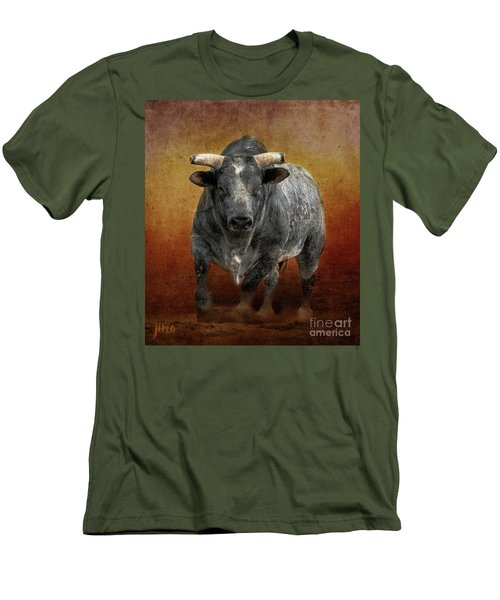The Bull Men's T-Shirt (Slim Fit) by Jim  Hatch