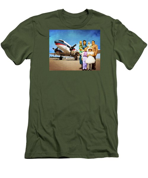 The California Family Men's T-Shirt (Slim Fit) by Timothy Bulone