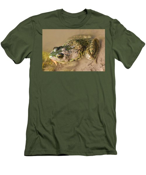 The Camouflage Frog Men's T-Shirt (Slim Fit) by Lisa DiFruscio