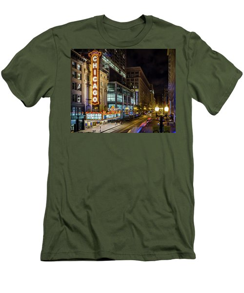 Illinois - The Chicago Theater Men's T-Shirt (Athletic Fit)
