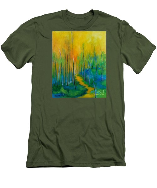 Men's T-Shirt (Slim Fit) featuring the painting The Chosen Path  by Alison Caltrider