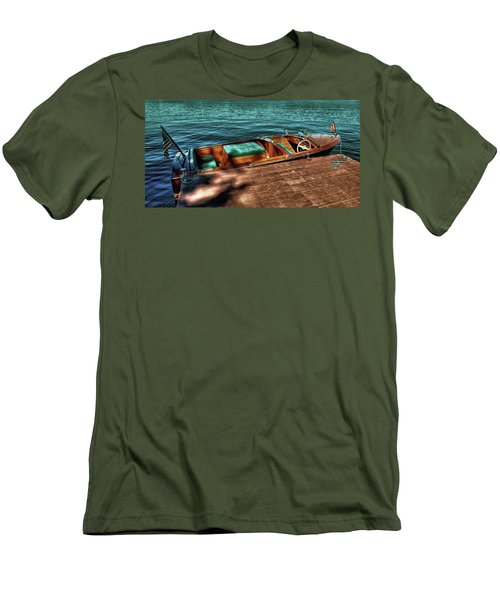 The Chris Craft Continental - 1958 Men's T-Shirt (Slim Fit) by David Patterson