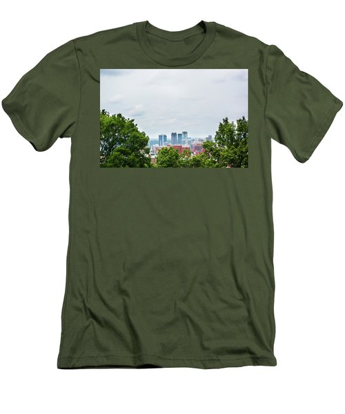 Men's T-Shirt (Slim Fit) featuring the photograph The City Beyond by Shelby Young