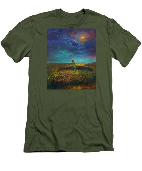 The Clock Of God Men's T-Shirt (Slim Fit) by Randy Burns