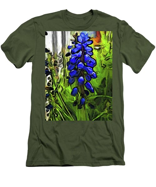 The Cobalt Blue Flowers And The Long Green Grass Men's T-Shirt (Athletic Fit)