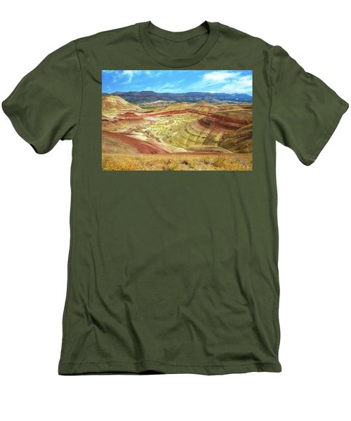 The Colorful Painted Hills In Eastern Oregon Men's T-Shirt (Athletic Fit)