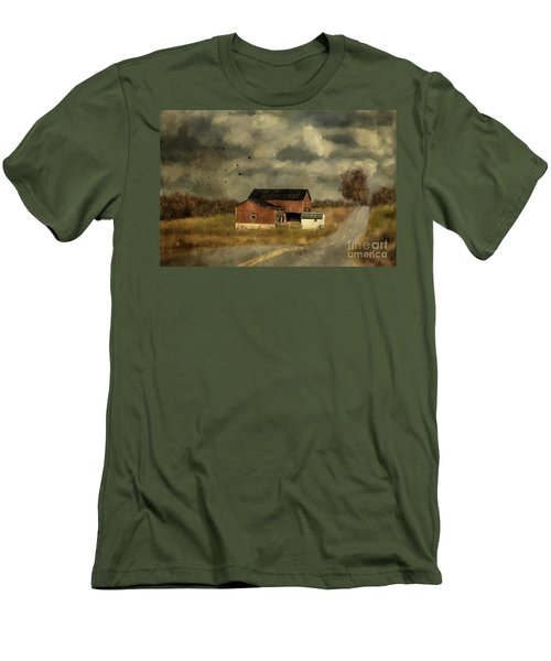 Men's T-Shirt (Athletic Fit) featuring the digital art The Coming On Of Winter by Lois Bryan