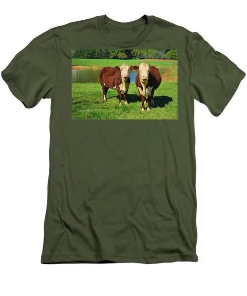The Cow Girls Men's T-Shirt (Slim Fit) by Sandi OReilly