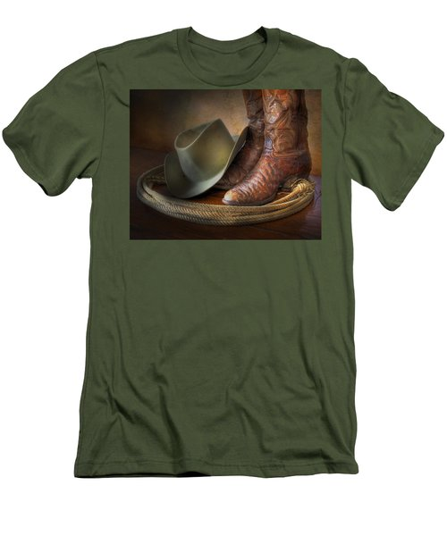 The Cowboy Boots, Hat And Lasso Men's T-Shirt (Slim Fit) by David and Carol Kelly
