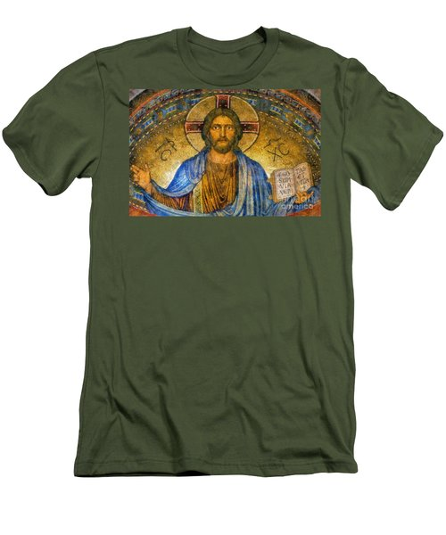 Men's T-Shirt (Slim Fit) featuring the digital art The Cross Of Christ by Ian Mitchell