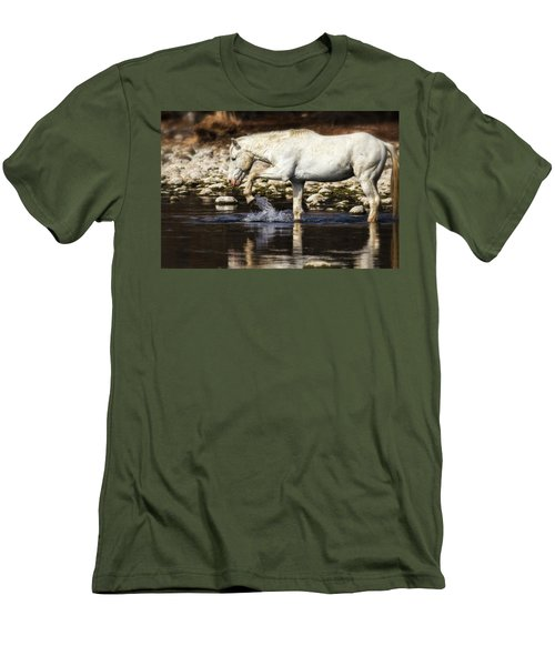 Men's T-Shirt (Athletic Fit) featuring the photograph The Crossing  by Saija Lehtonen