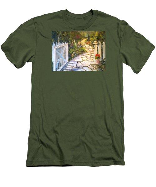 The Cutting Garden Men's T-Shirt (Slim Fit) by Alan Lakin