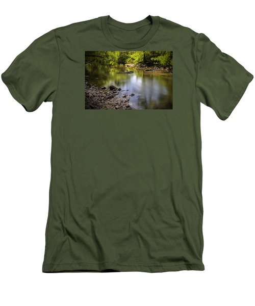 Men's T-Shirt (Slim Fit) featuring the photograph The Devon River by Jeremy Lavender Photography
