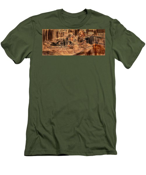 Men's T-Shirt (Athletic Fit) featuring the digital art The Discussion by Jim Vance