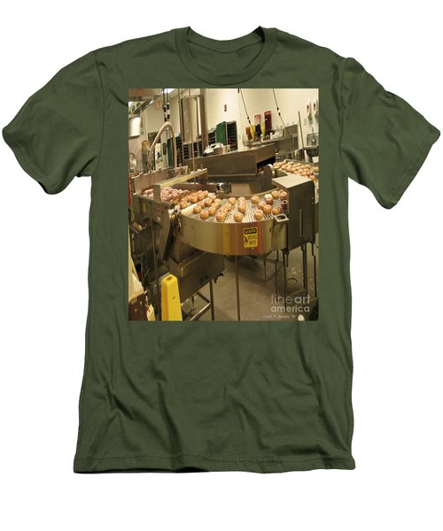 The Doughnut Machine Men's T-Shirt (Slim Fit) by Carol F Austin