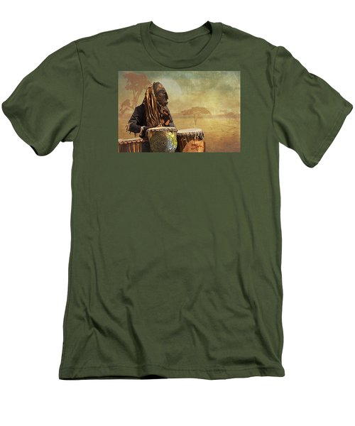 The Dream Of His Drums Men's T-Shirt (Slim Fit) by Christina Lihani