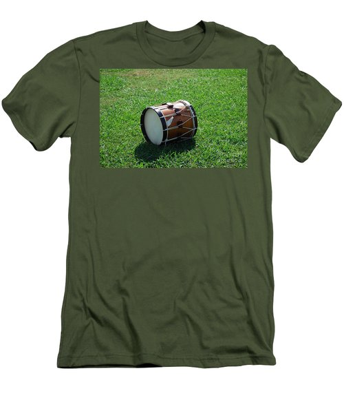 Men's T-Shirt (Slim Fit) featuring the photograph The Drum by Eric Liller
