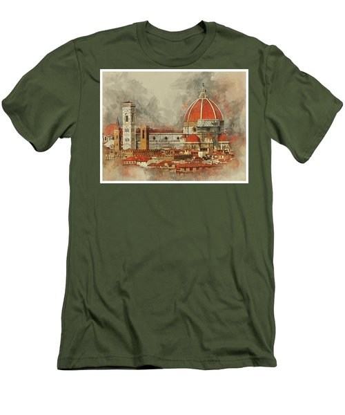 The Duomo Florence Men's T-Shirt (Slim Fit) by Brian Tarr