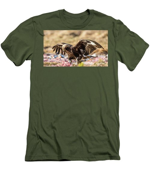 Men's T-Shirt (Slim Fit) featuring the photograph The Eagle Have Come Down by Torbjorn Swenelius