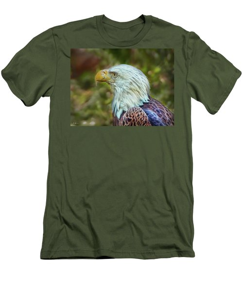 Men's T-Shirt (Athletic Fit) featuring the photograph The Eagle Look by Hanny Heim