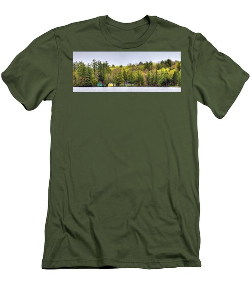 The Early Greens Of Spring Men's T-Shirt (Slim Fit) by David Patterson
