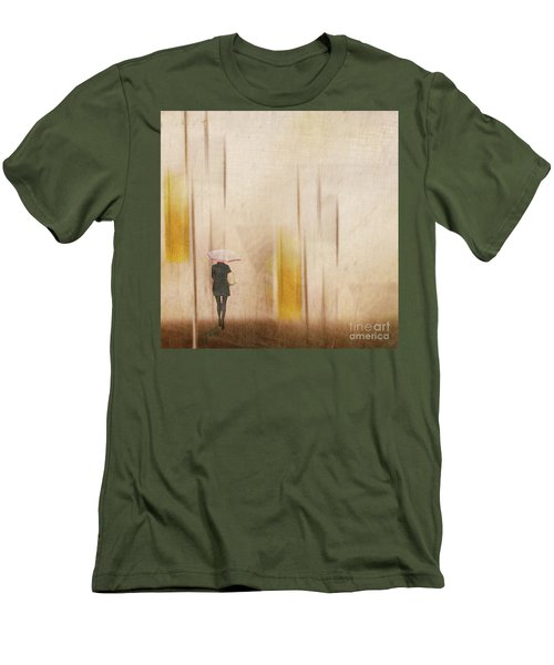 Men's T-Shirt (Athletic Fit) featuring the photograph The Edge Of Autumn by LemonArt Photography