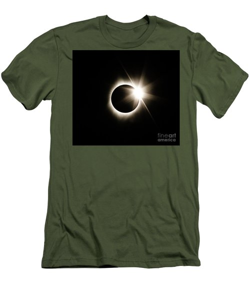 The Edge Of Totality Men's T-Shirt (Athletic Fit)
