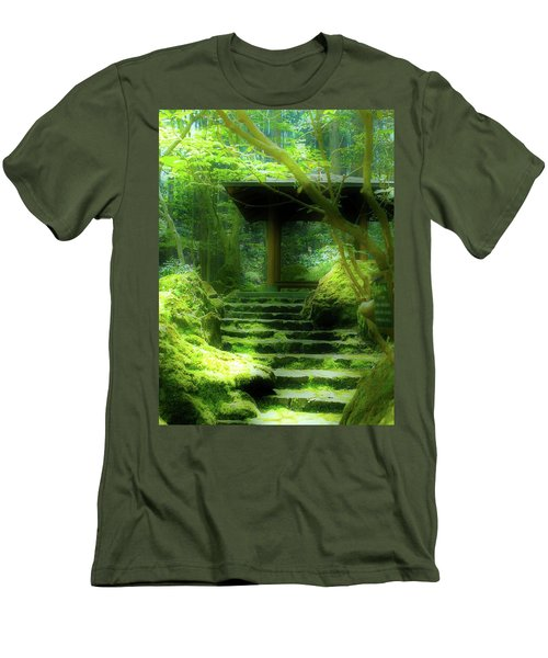 The Emerald Stairs Men's T-Shirt (Slim Fit) by Tim Ernst