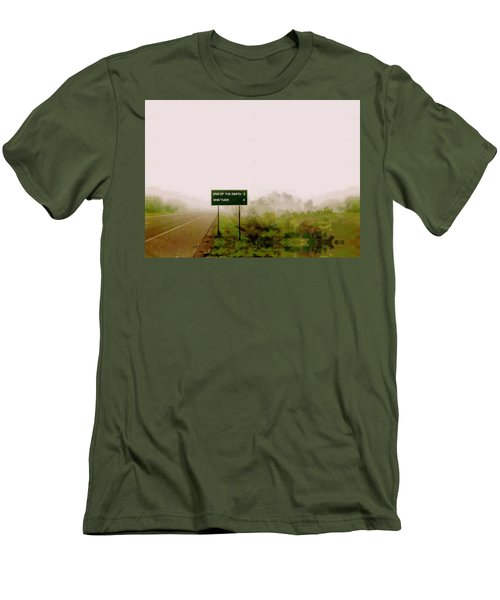 The End Of The Earth Men's T-Shirt (Slim Fit) by Sam Sidders