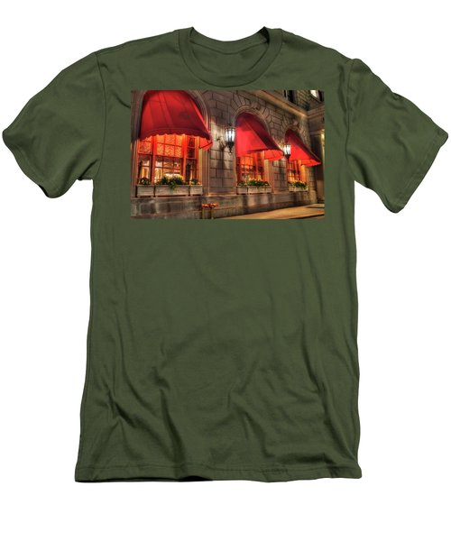 Men's T-Shirt (Slim Fit) featuring the photograph The Fairmont Copley Plaza Hotel - Boston by Joann Vitali